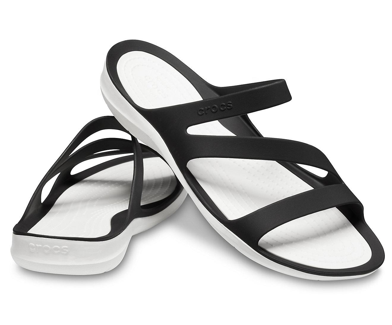 Sandália Crocs Swiftwater Sandal Preto Feminino