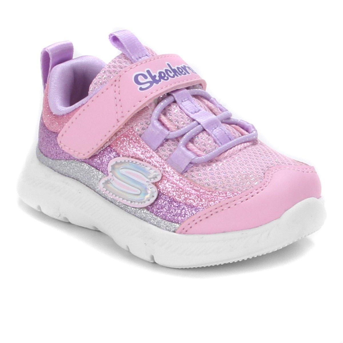 Tênis Infantil Skechers Comfy Flex 2.0 Glitter Trails