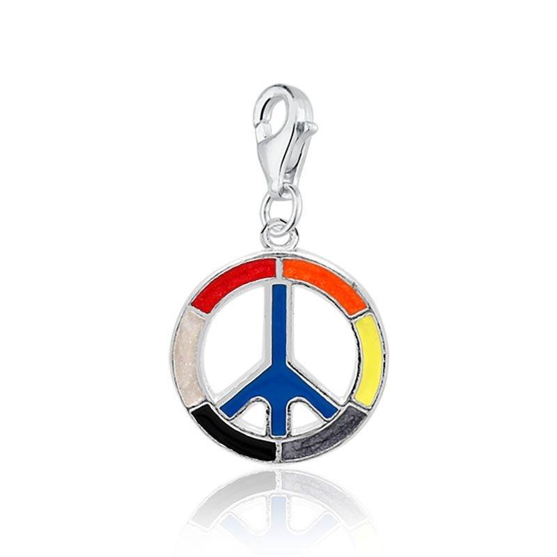 Berloque Pingente Gancho Símbolo Da Paz