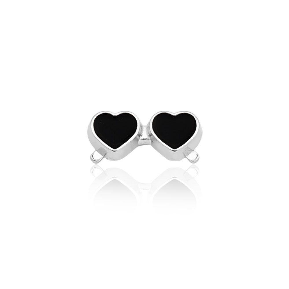 Mini Charm Óculos Coração