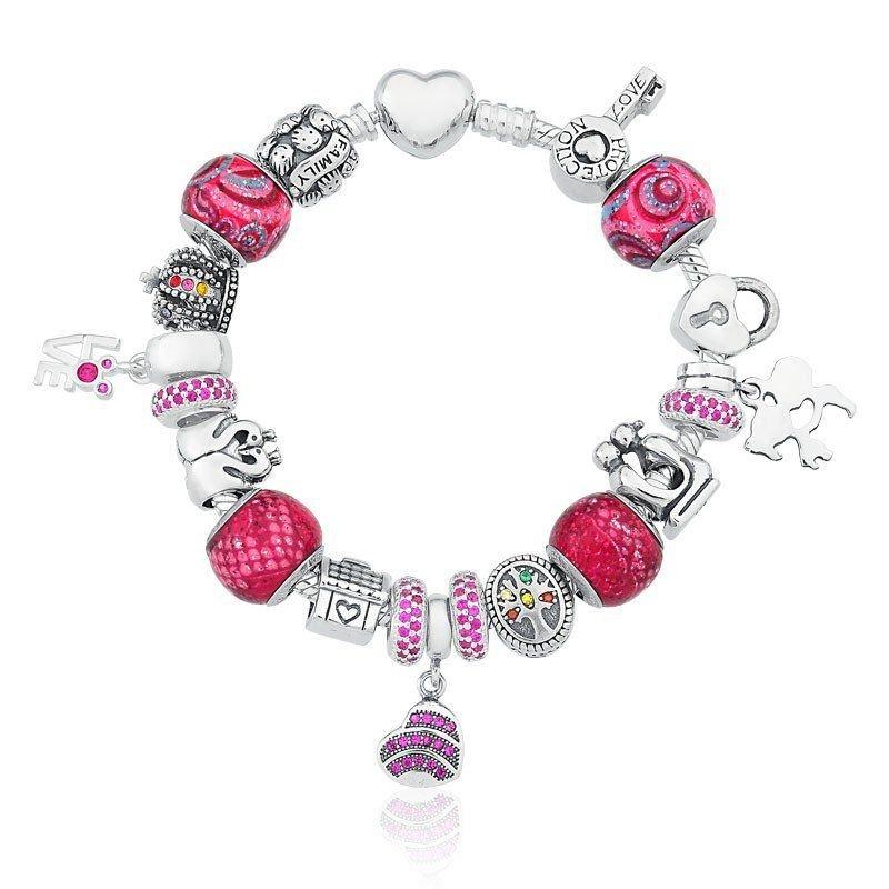 Pulseira de Berloques Amor Pink