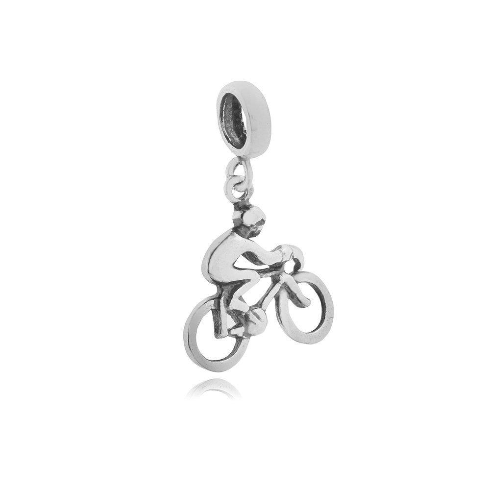 Berloque Moça na Bicicleta