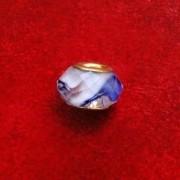 Berloque Murano Trabalhado Azul Efeito