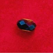 Berloque Murano Trabalhado Azul Escuro