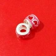 Berloque Separador Pink Coração Vermelho