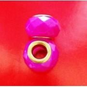 Berloque Murano Trabalhado Pink