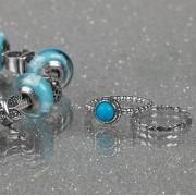 Anel Azul Turquesa