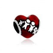 Berloque Coração Familia