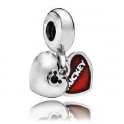 Berloque Coração Mickey E Minnie III