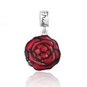 Berloque Flor Rosa Vermelha Frida