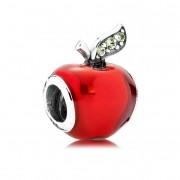 Berloque Maçã Vermelha Metalizada