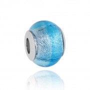 Berloque Murano Azul e Prata