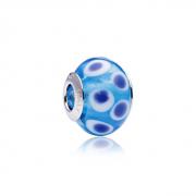 Berloque Murano Bolhas Azuis