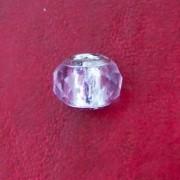 Berloque Murano Trabalhado Transparente Rosa