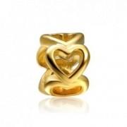 Berloque Separador Ouro Coração