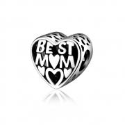 Berloque Coração Best Mom