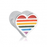 Berloque Coração Arco-Íris