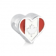 Berloque Coração Canadá Bijoux