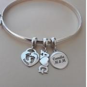 Bracelete Rígido de Prata