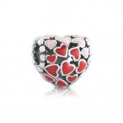 Berloque Coração Mini Corações
