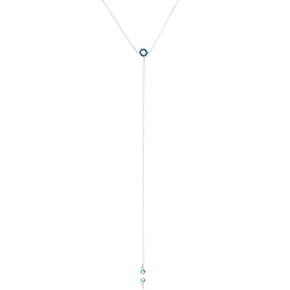Gargantilha Zircônia Azul