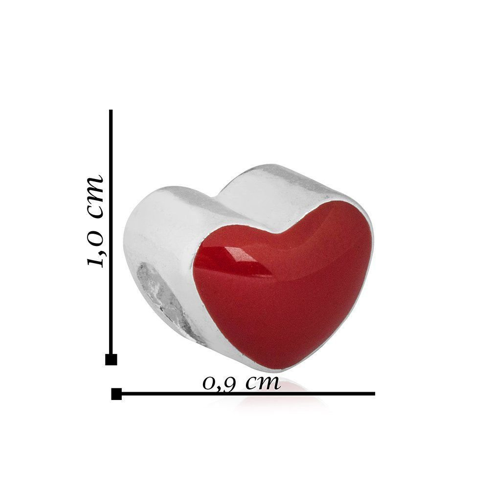 Berloque Coração Zircônias Pavé