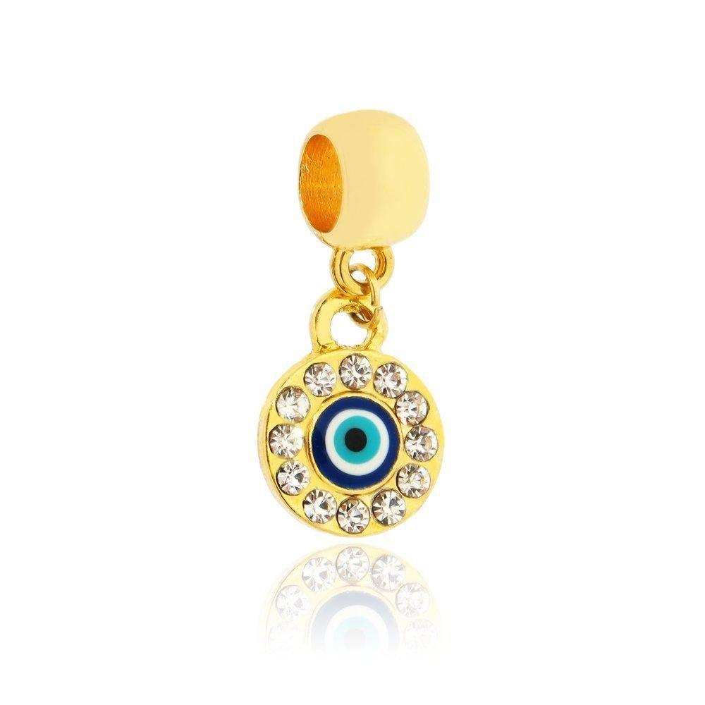 Berloque Olho Grego Dourado