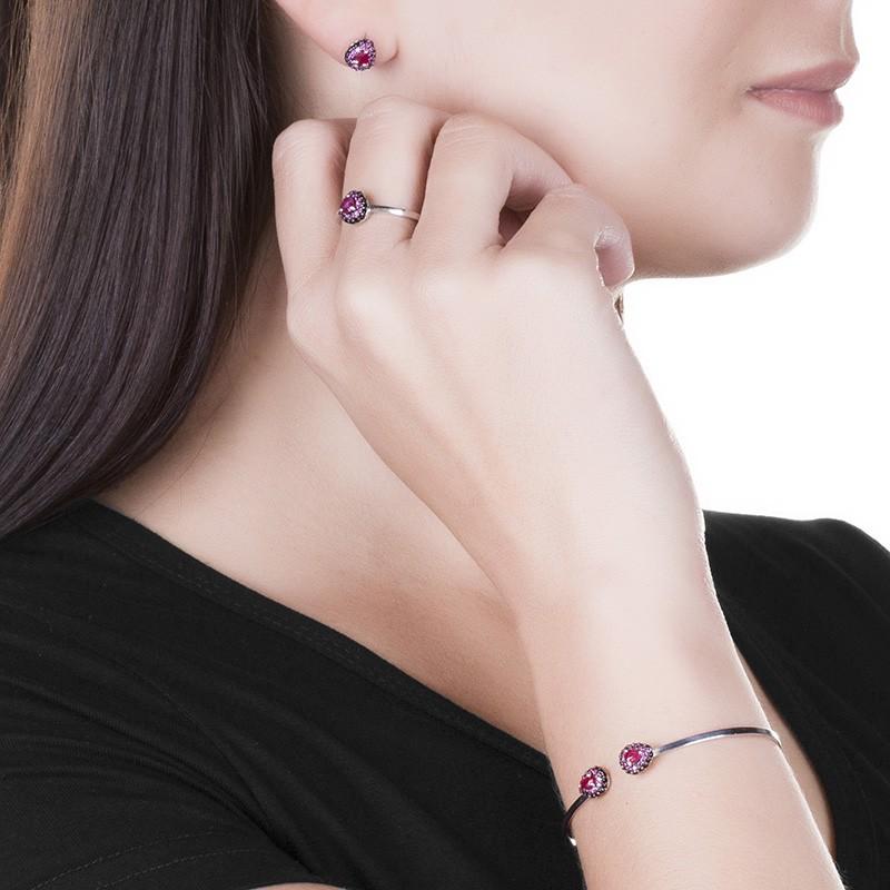 Bracelete Rubi Silimanita