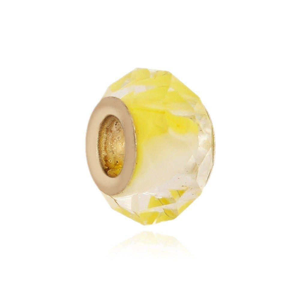 Berloque Murano Amarelo