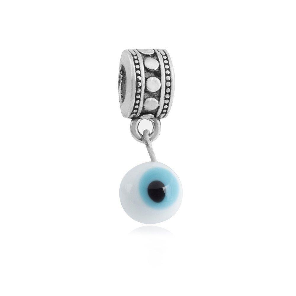 Berloque Pingente De Olho Grego Branco