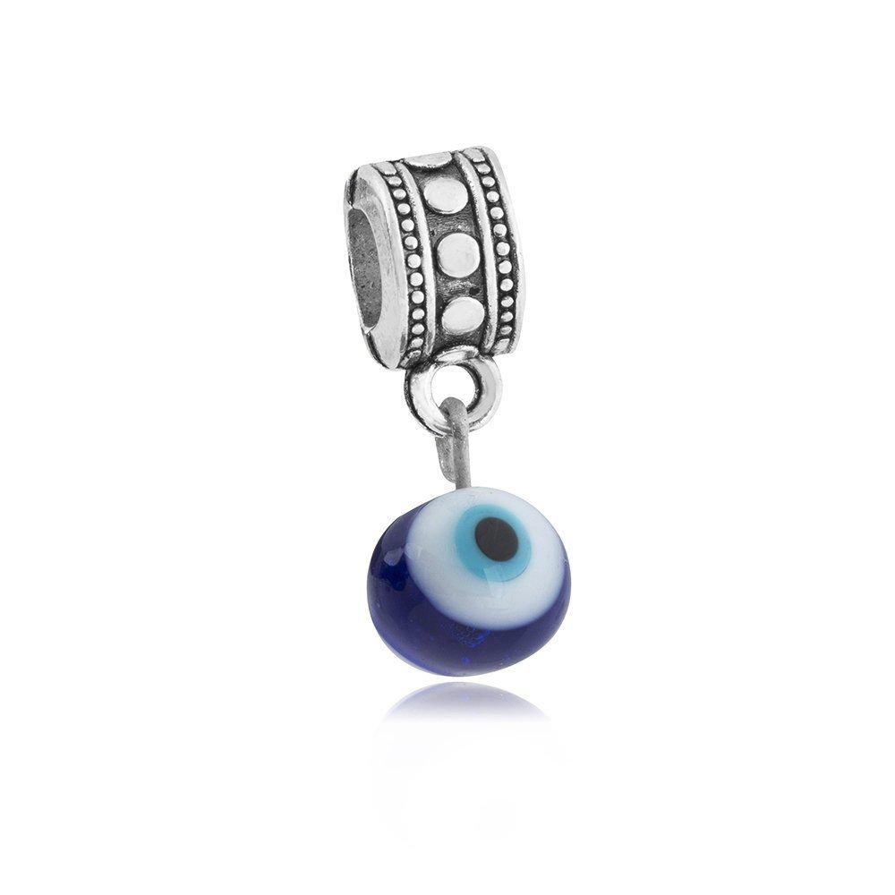 Berloque Pingente De Olho Grego Azul
