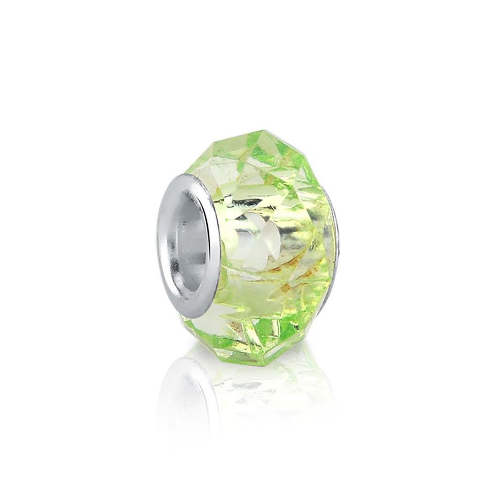 Berloque Murano Verde Clarinho Bijoux