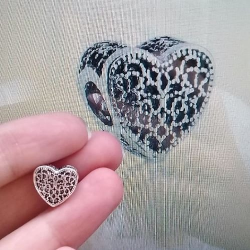 Berloque Coração Arabescos Bijoux