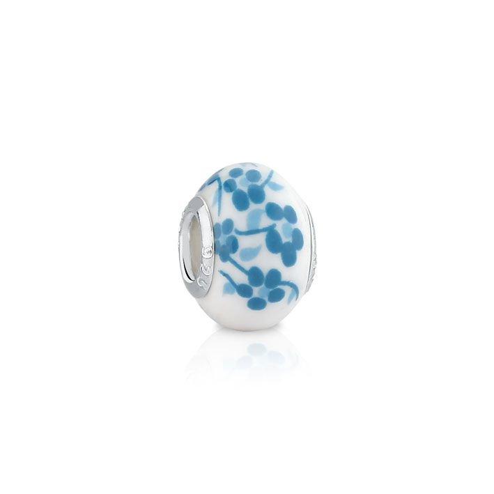 Berloque Murano Cerejeira Azul