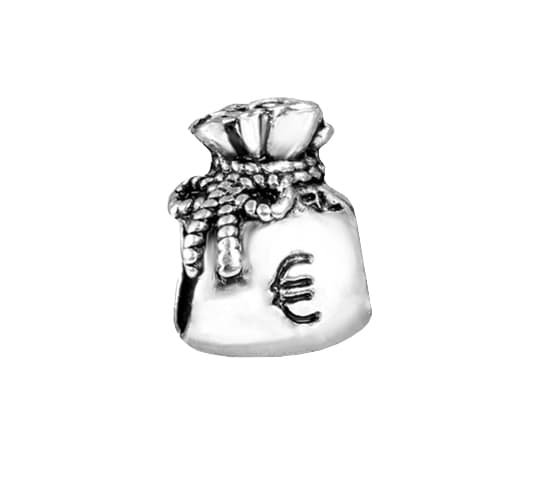 Berloque Saquinho de Euro Bijoux