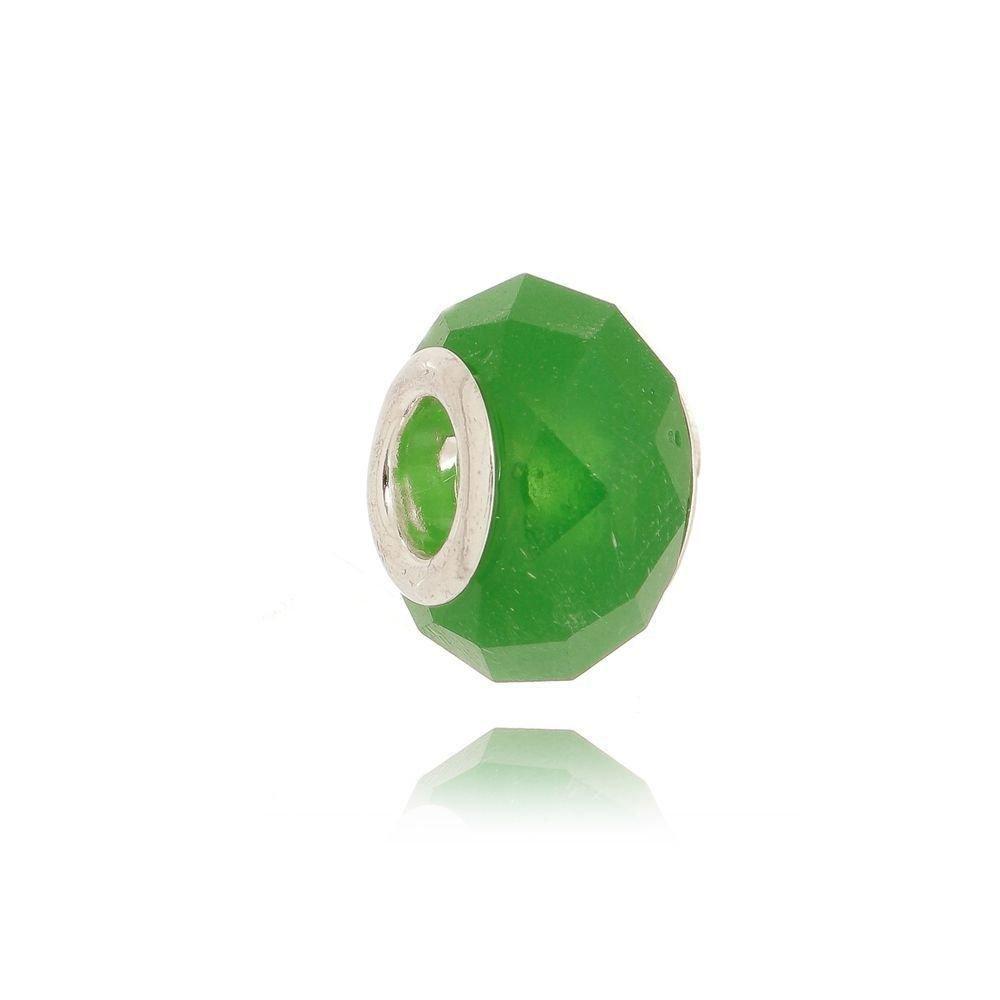 Berloque Murano Verde Facetado Bijoux