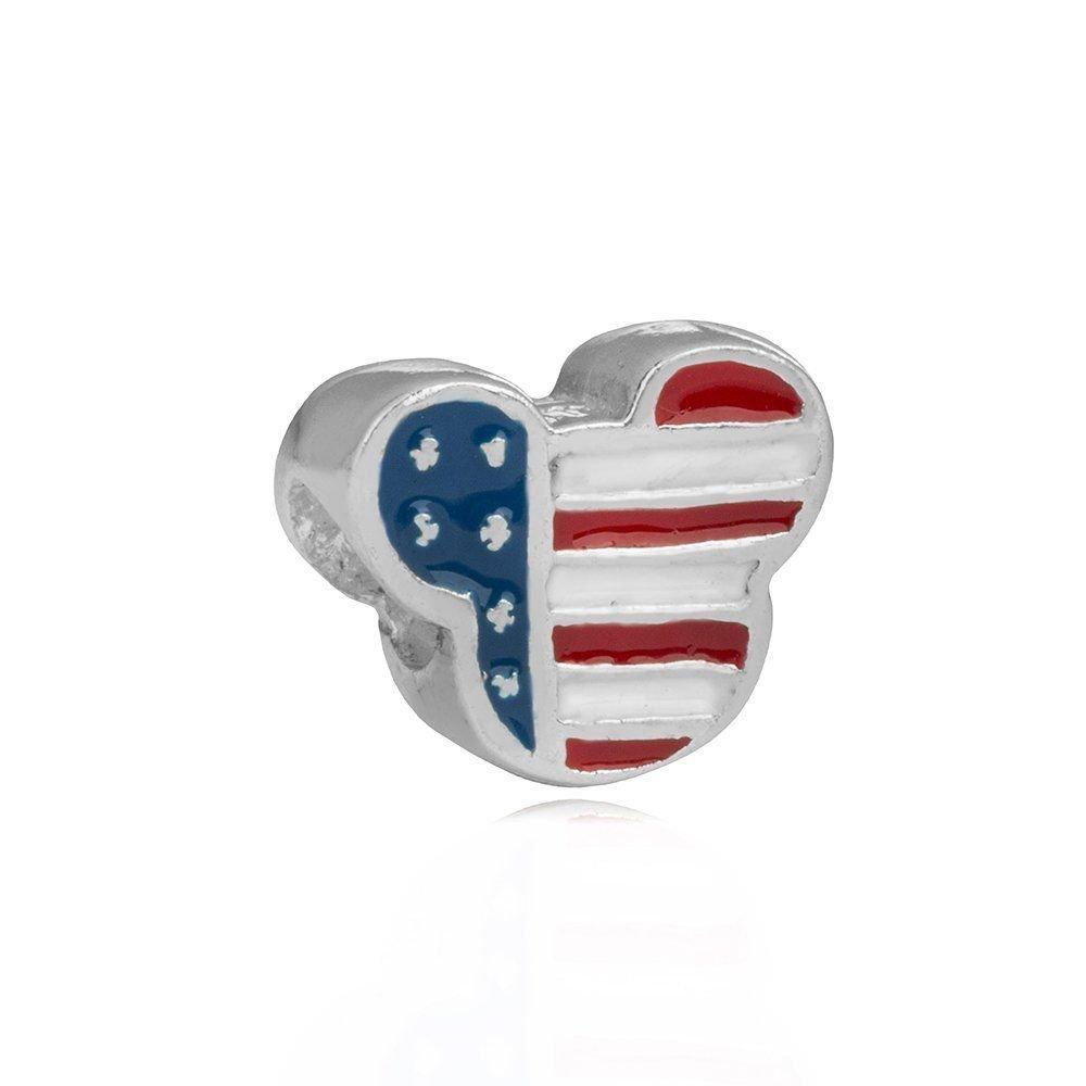 Berloque Bandeira dos Estados Unidos Bijoux