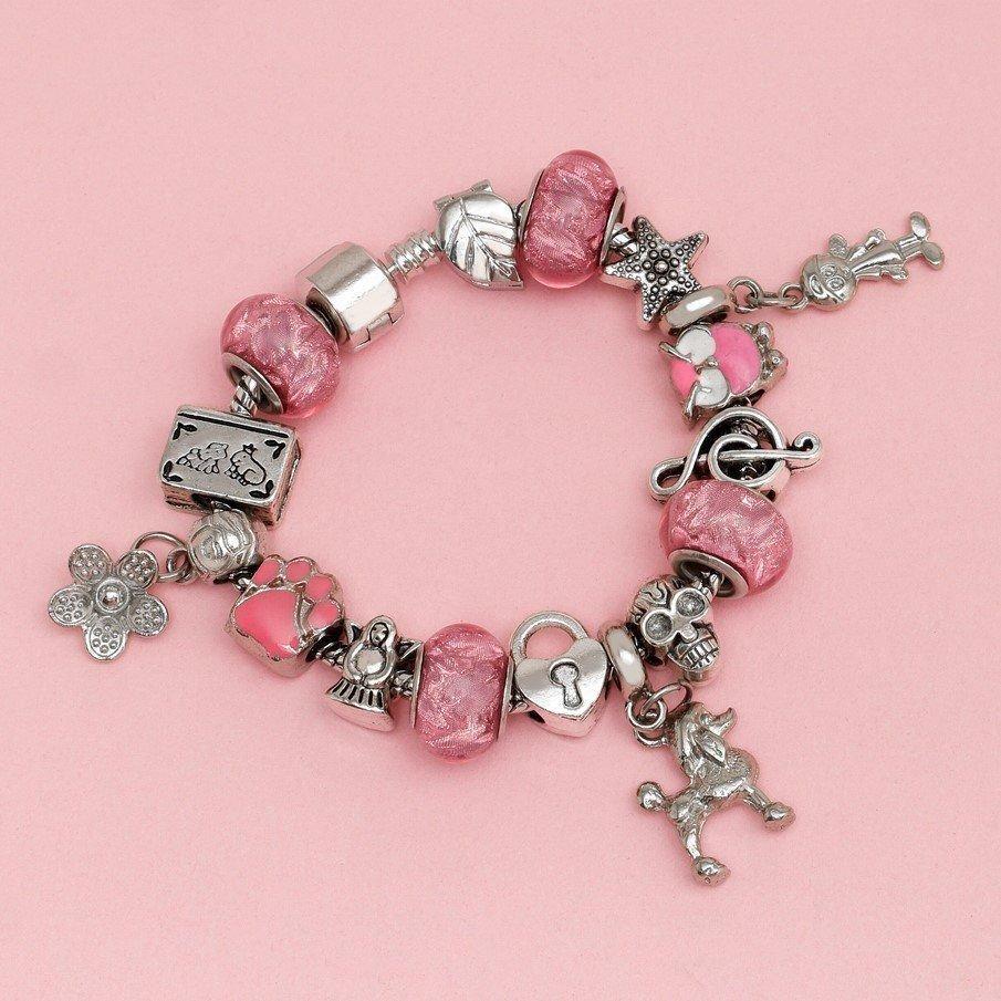Berloque Murano Pink detalhes Bijoux