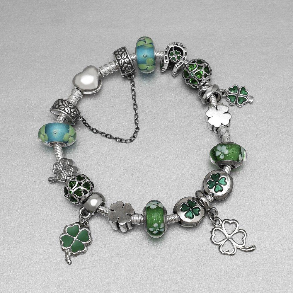 Berloque Trevo Verde Bijoux