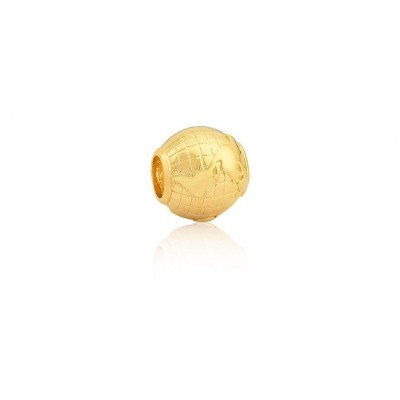 Berloque Globo Terrestre Dourado