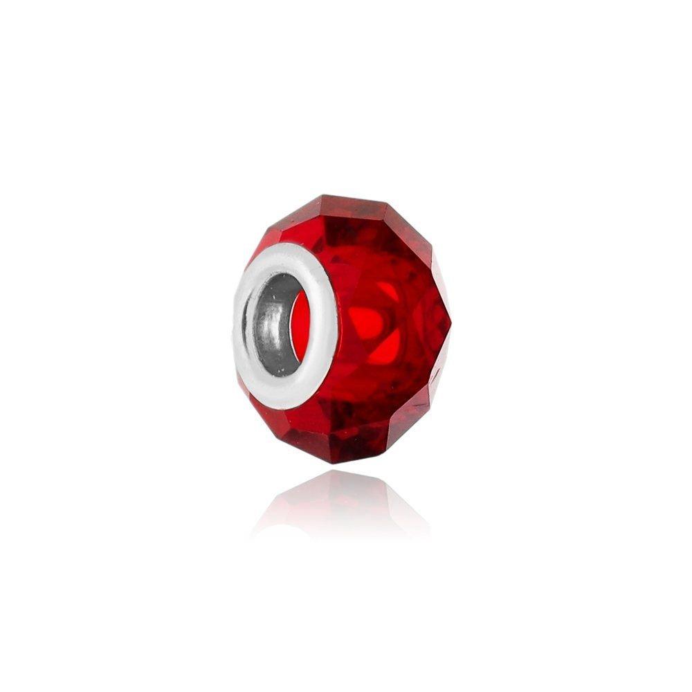 Berloque Murano Vermelho Cristal