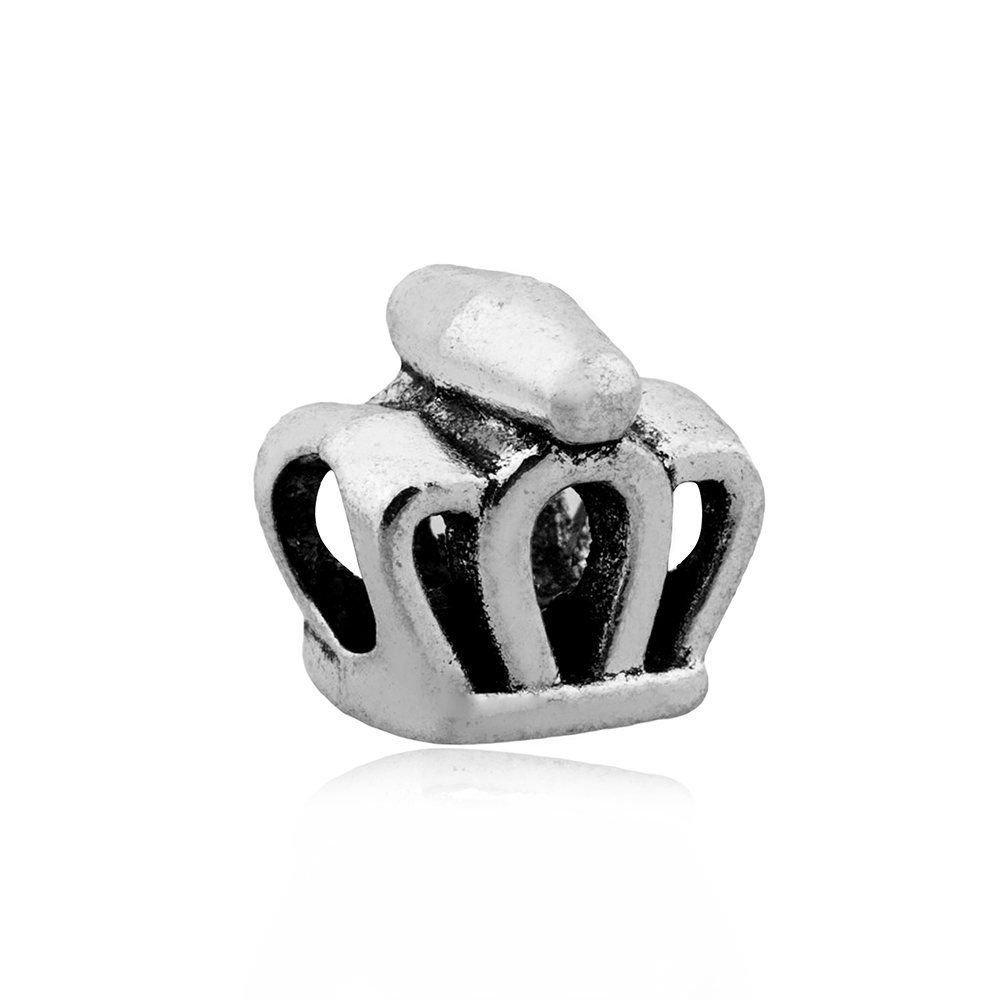 Berloque Coroa Detalhes Metalizada