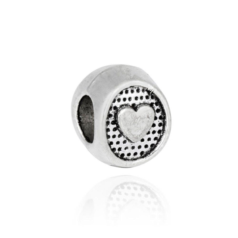 Berloque Separador Botão com Coração