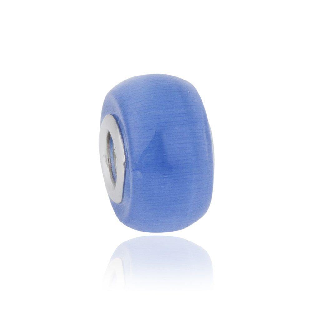 Berloque Murano Azul Claro