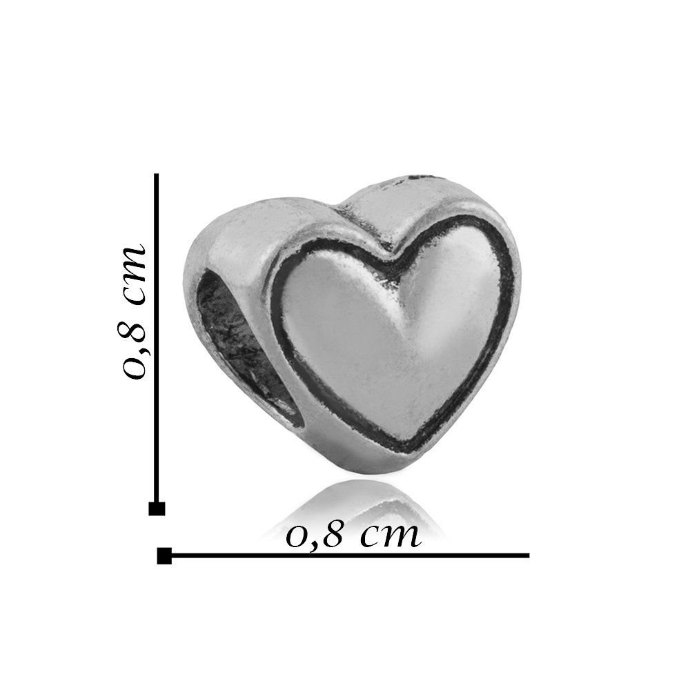 Berloque Coração Mini Bijoux