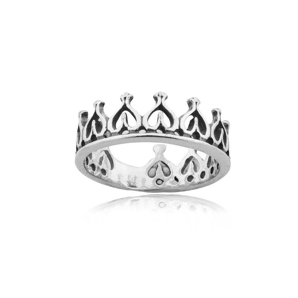 Anel Coroa Corações