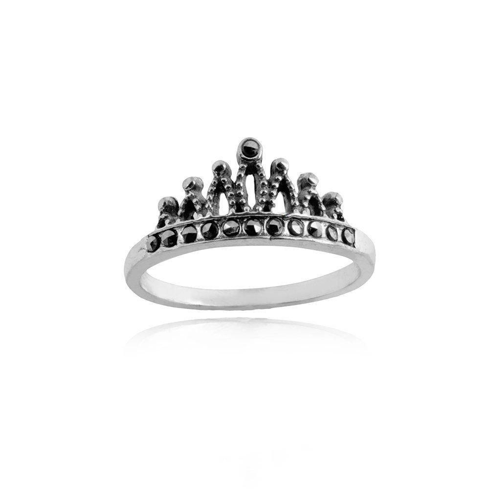 Anel Coroa de Pedras