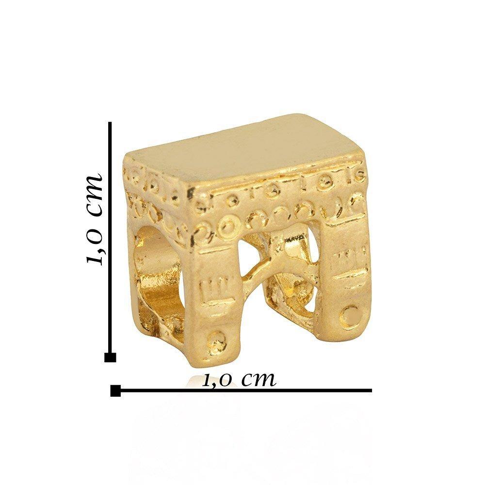 Berloque Arco Do Triunfo Dourado
