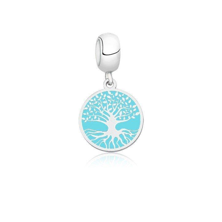 Berloque Árvore Da Vida Azul Tiffany