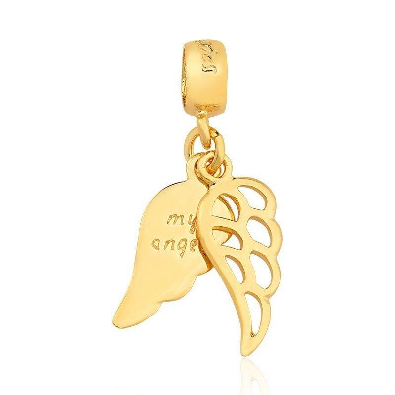 Berloque Asas de Anjo Dourada
